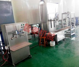 semi-automatic lubricating oil production site