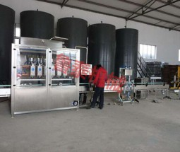 1-4L weighing filling line