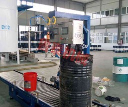 200L single-head power conveyor filling line
